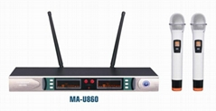 professional UHF wireless microphone MA-U860