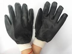 JC1105sandy finished PVC gloves