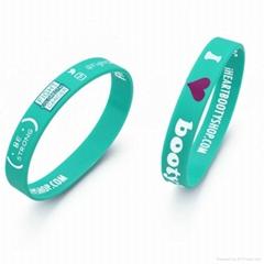 printed silicone bracelet with custom logo