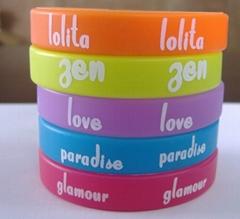printing silicone wristband with custom logo