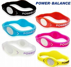 power silicone energy bracelet with custom logo