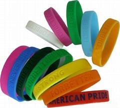 debossed silicone bracelet with custom logo