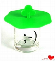 Anti-dust silicone mug cup cover cap lid