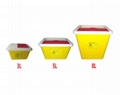 Sharp Container box Yellow disposable round needle waste box Medical waste