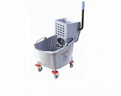 Source Hot selling Quality 36L single PP hotel cleaning Gray Wringer Mop  Bucket