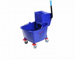 Multifunctional Quality 36L single PP hotel cleaning blue Wringer Mop  Bucket