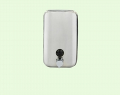 800ml stainless steel soap dispenser hotel bathroom kitchen wall-mounted