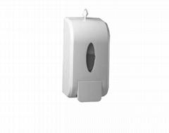 Cheap White ABS plastic white  wall mounted push manual Foam soap dispenser