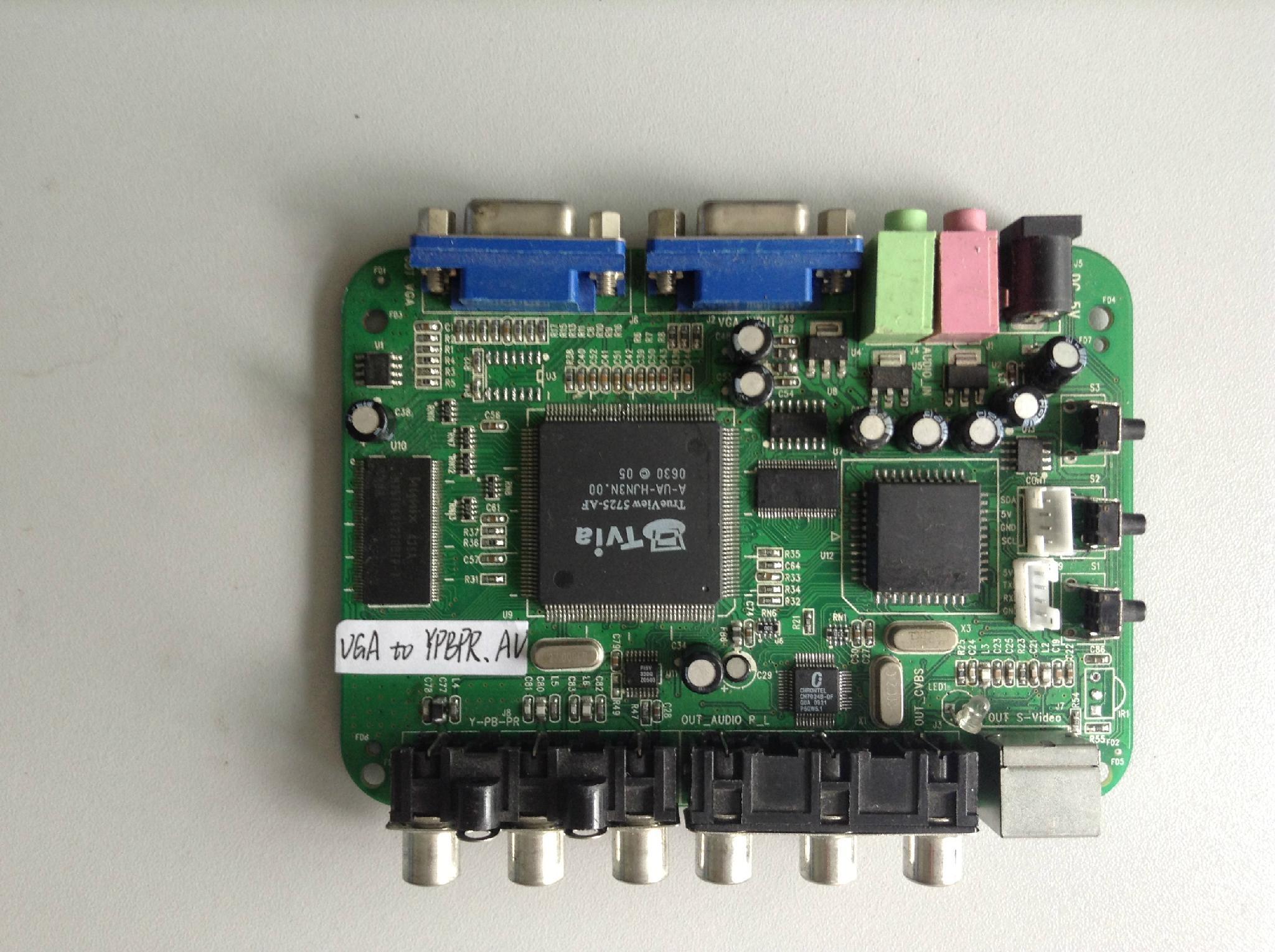 英图电子TV5715系列芯片适用方案信号转换VGA转色差 1