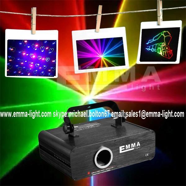 500mW RGB beam animation gobos programmable nightclub laser lighting 1