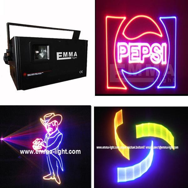 ilda 2W rgb full color beam animation 3D animation programmable laser logo pro 1