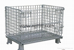 Folding Wire Mesh Container