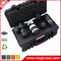 Crushproof Watertight Hard Plastic Wheeled Photography Camera Cases