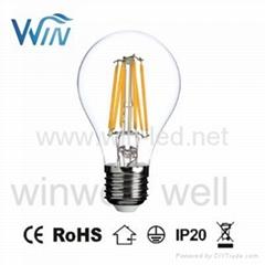 4W 6W 8W E26 E27 B22 Clear LED Filament Bulb