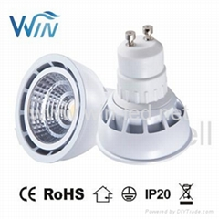 5W 6W GU10 MR16 COB dimmable LED Spotlight