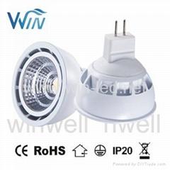 COB 5W 7W MR16 GU10 dimmable LED Spotlight