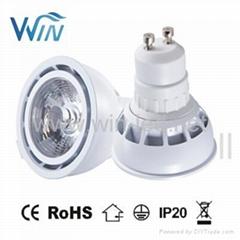 Dimmable COB GU10 7W led spotlight Ra>97