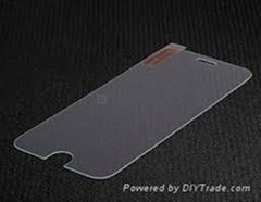 iphone6 use 0.33mm thickness with flat edge tempered glass of screen protectors