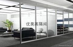 简约型单面玻璃隔墙