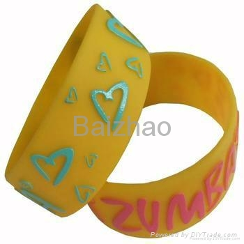 Cheap custom silicone bracelets 1