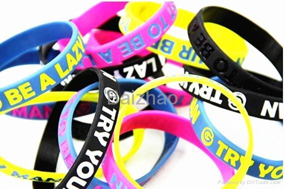 Cheap custom silicone bracelets 5
