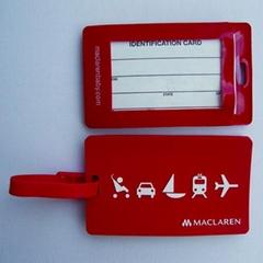 rubber pvc luggage tag w