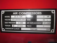 Air compressors ZC-0.12/8