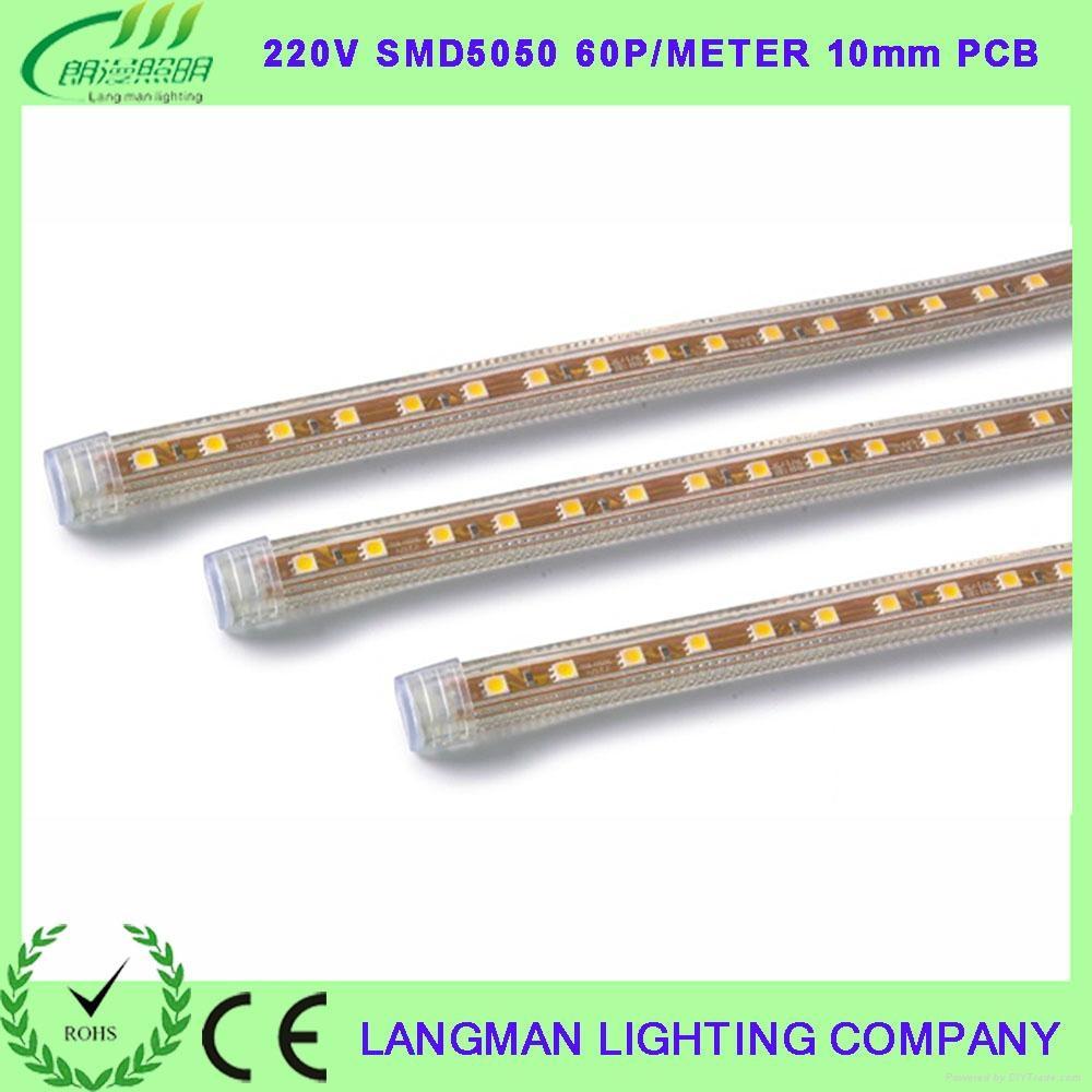 220V LED5050 10mm宽 60珠/米灯带 1