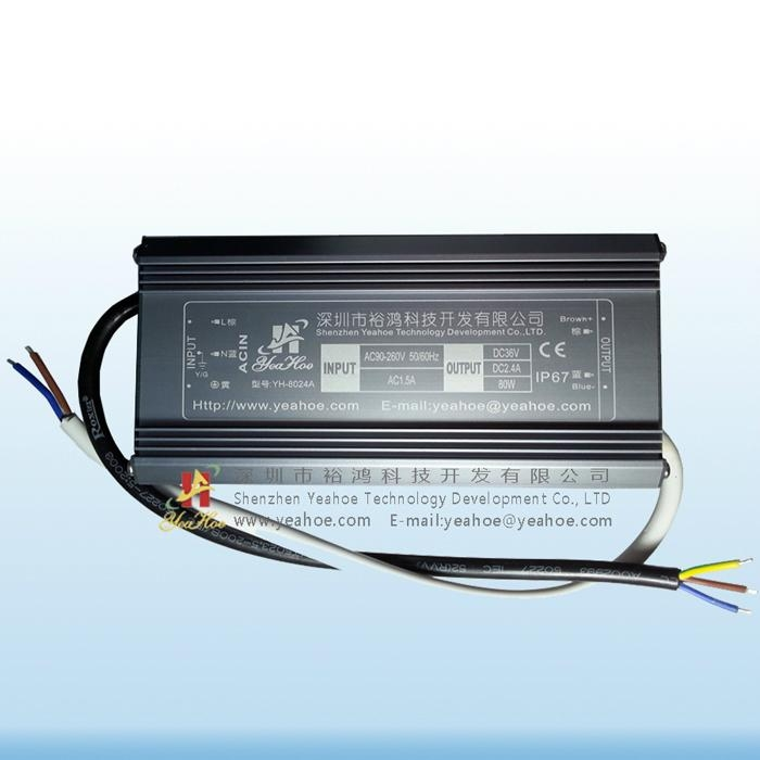 LED光源-LED恒流驱动电源-80W36V2400mA 2