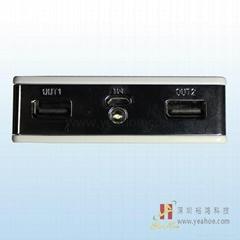 裕鴻 LED 移動電源充電寶系列-LCD顯示-YH031白色