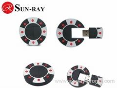 customized poker chip pvc usb flash drive