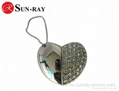 heart shape jewel usb flash memory disk