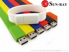 2014 hot sale bracelet usb flash drive
