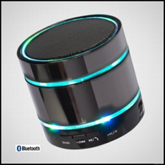 Portable wireless speaker with LED light