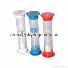 Mini plastic sand timer hourglass