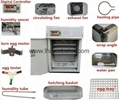 Wooden packed fully Automatic Egg Incubator for sale 2