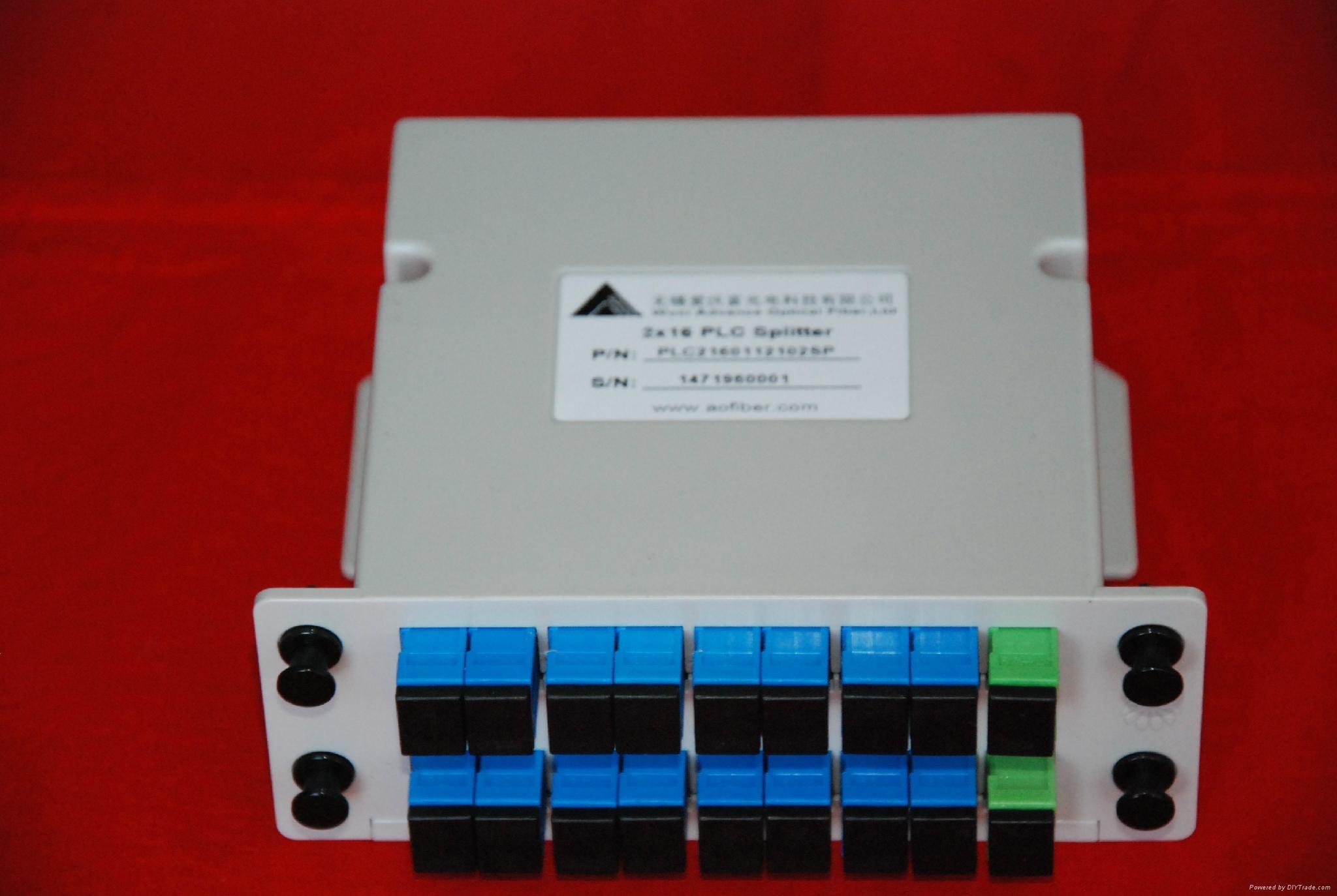 Optical Fiber PLC Splitter Slot Box (2X2, 4, 8, 16, 32, 64/SC, FC, LC/APC, UPC) 1