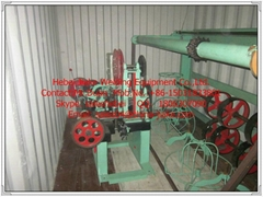 Efficient full automatic chain link fence machine