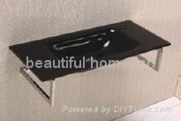 shower-room glass vanity top