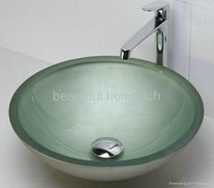shower-room glass sink basin