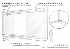 四川克里克大型合頁門文物展櫃
