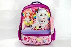 Cartoon cartoon cute pupil bag student bag Nylon Backpack