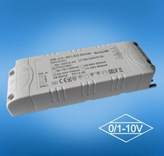 40w one channel 0 to 10v and PMW led driver for panel light
