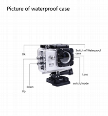 2014 Popular S4000 Sport Action Camera 1080P Full HD Waterproof Camera