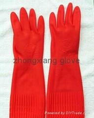 lengthen latex glove big size glove