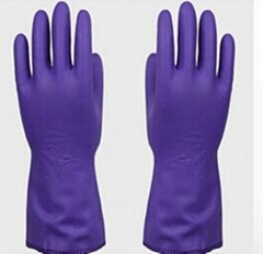 purple PVC heat resistant silicone gloves for hand protection