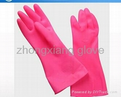 cheap high quality pink PVC heat resistant silicone rubber gloves