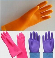 CE proved cheap high quality PVC housekeeping gloves