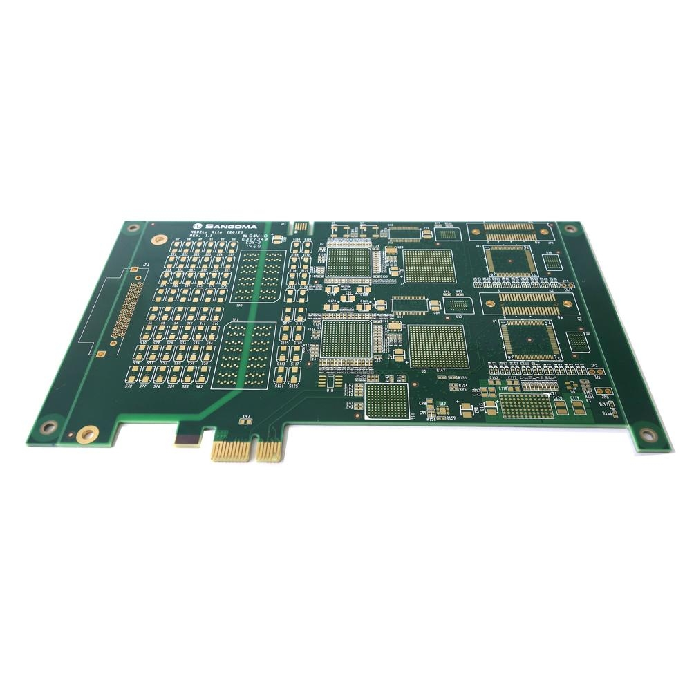 High-precision 8 Layers BGA PCB with Immersion Gold, ENIG Surface