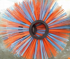 plastic disc poly bristle cleaning brush for road sweeper